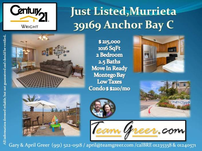 Anchor Bay Just Listed