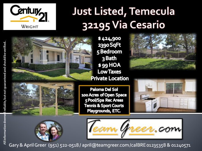 Just Listed Via Cesario