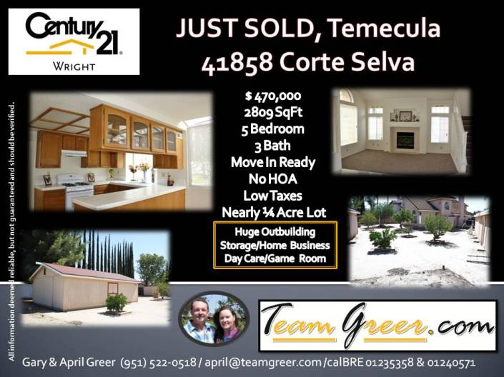 Just Sold Corte Selva