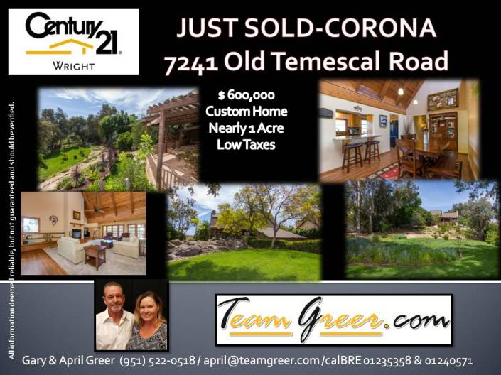 Just Sold Old Temescal