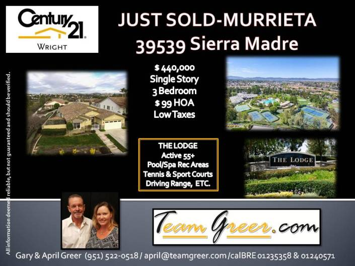Just Sold Sierra Madre