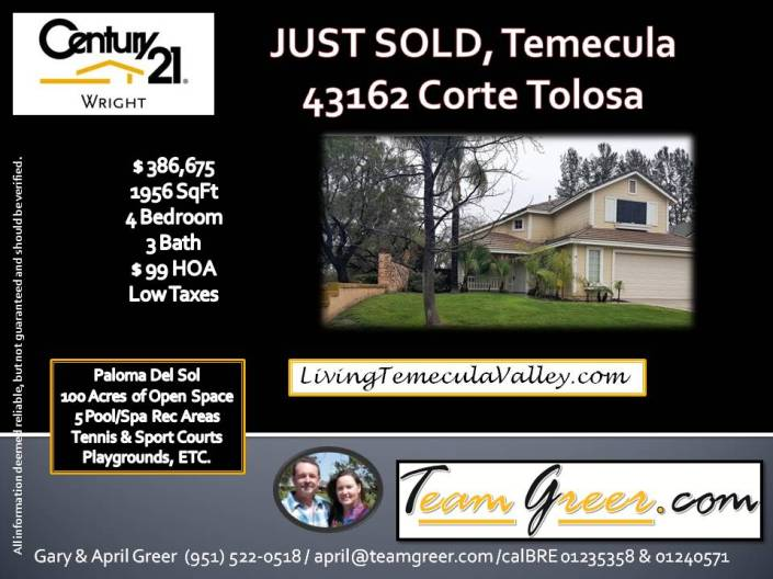 Just Sold Tolosa