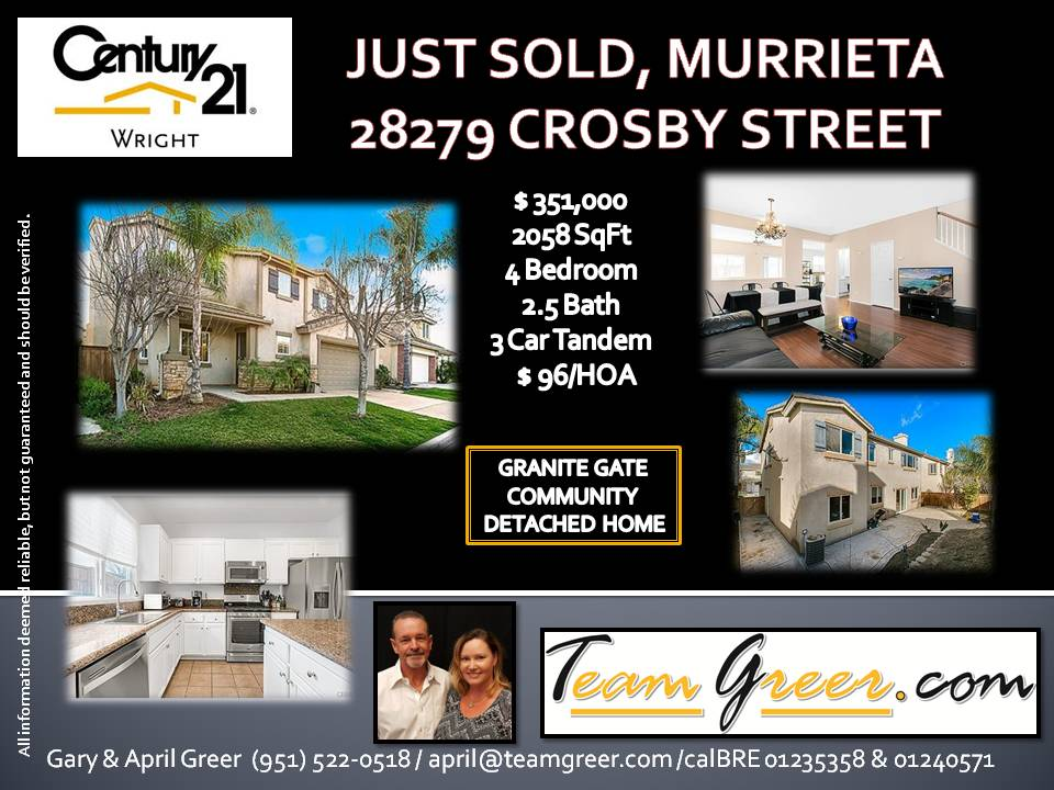 Just Sold Crosby