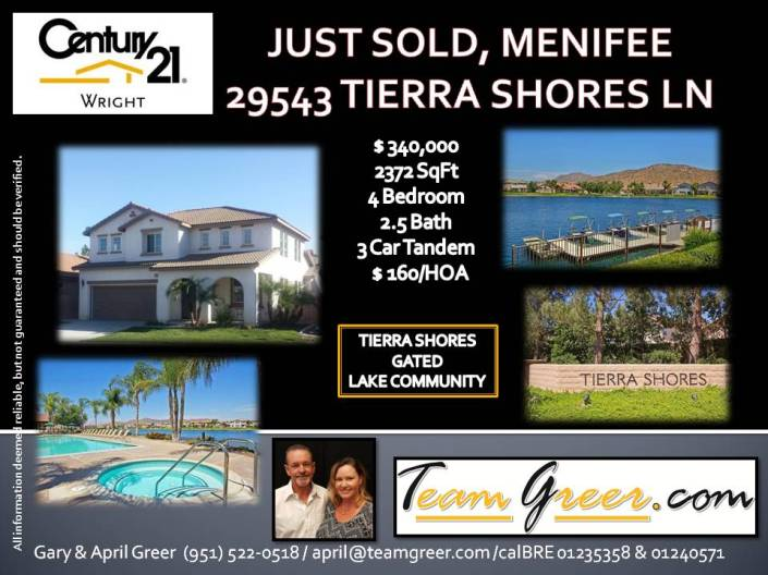 Just Sold Tierra Shores
