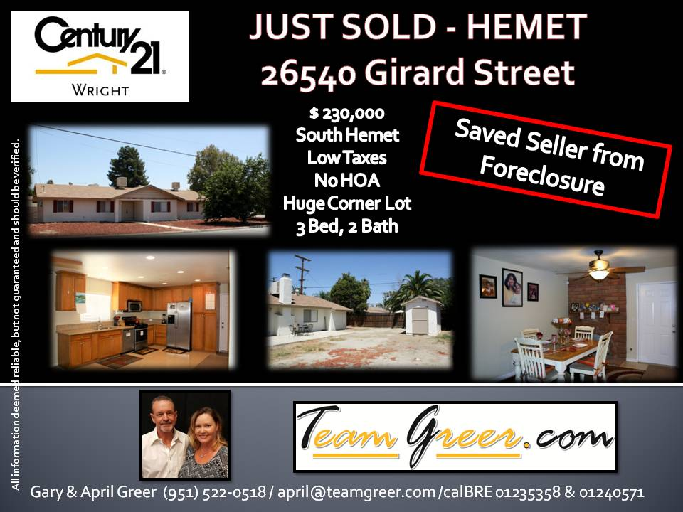 Just Sold, Girard